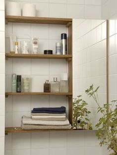 Norrgavel, hylleplate Bathroom Cupboards, Bathroom Medicine Cabinet, Building A New Home, Floating Shelves, Bookcase, New Homes, Interior Design, House, Inspiration
