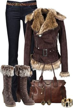 A fashion look from December 2012 featuring Paige Denim jeans, Joe Browns boots et Kate Spade bracelets. Browse and shop related looks. Lila Outfits, Mode Outfits, Casual Outfits, Fashion Outfits, Fashion Trends, Fall Winter Outfits, Winter Wear, Autumn Winter Fashion, Winter Boots