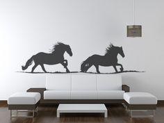 Horse decal-Horse sticker-Friesian horse-Vinyl horse sticker-12 X 48 inches