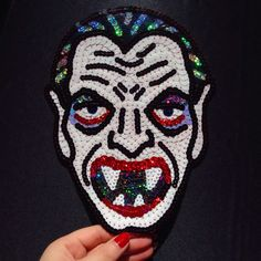 Dracula Vintage Halloween Mask Hand by KingSophiesWorld on Etsy