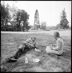 Caroline Blackwood and Robert Lowell by Walker Evans 1973