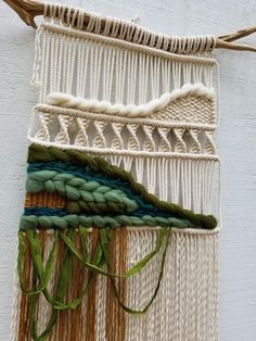 macrame/macrame anleitung+macrame diy/macrame wall hanging/macrame plant hanger/macrame knots+macrame schlüsselanhänger+macrame blumenampel+TWOME I Macrame Natural Dyer Maker Educator/MangoAndMore macrame studio Weaving Projects, Macrame Projects, Tapestry Weaving, Loom Weaving, Weaving Wall Hanging, Wall Hangings, Macrame Knots, Wool Yarn, Boho Decor