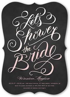 Bridal Shower Invitation: Timeless Shower, Bracket Corners, Gray