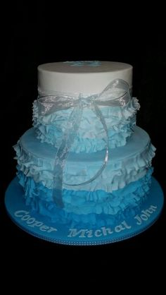 Coopers Christening Cake