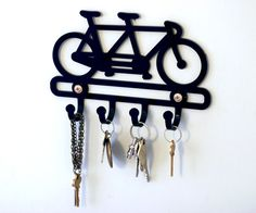wall hook tandem bicycle key rack key holder wall by beepobjects, $22.00
