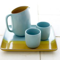 ice tea set: heath ceramics pieces really are pretty, aren't they?