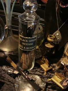 Magickal Ritual Sacred Tools:  Black Opium Incense.