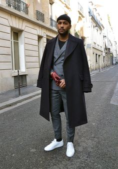 so chic great guy outfit. Street Style Suit, Mode Man, Winter Outfits Men, Herren Outfit, Casual Chic, Chic Chic, Mens Fashion, Fashion Outfits, Modern Outfits