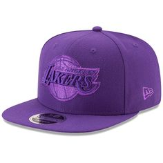 03c7d9bdfbf8a Men s Los Angeles Lakers New Era Purple Metallic Mark 9FIFTY Original Fit  Snapback Adjustable Hat