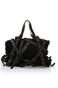 Hot black belted purse!