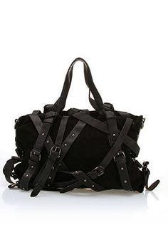Hot black belted purse!