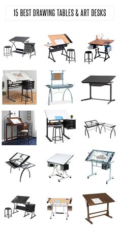 List of 15 Best Drawing Table and Art Desks Collection of the best drawing tables and art desks. Also called drafting table, here are the best for artists, architects, designers and students. Art Studio Room, Art Studio Design, Art Studio At Home, Design Art, Studio Table, Bureau Design, Drawing Desk, Drawing Tables, Drawing Art