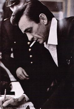 Johnny Cash in London, 1960s by Jan Olofsson
