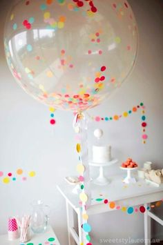 A Sprinkle & Confetti Birthday Party from Sweet Style - Tisha S. - A Sprinkle & Confetti Birthday Party from Sweet Style Photography : Sweet Style Read More on SMP: www. Colorful Birthday Party, First Birthday Parties, Birthday Party Decorations, First Birthdays, Polka Dot Birthday, Polka Dot Party, Sweet Style, A Todo Confetti, Sprinkle Party