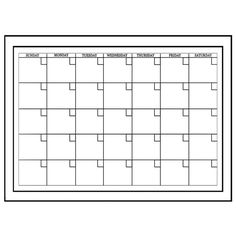 White Monthly Calendar - Birthday - Gifts
