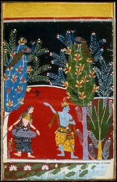 Krishna Dancing, possibly Vasanta Ragini Indian, about 1680 Malwa, Central India #MetMuseum