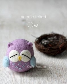 DIY Needle Felted Owl Step-by-Step Tutorial