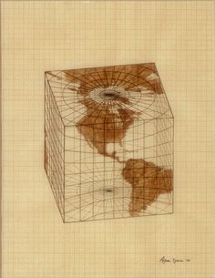 Agnes Denes: Study for Distortions; Isometric Systems in Isotropic Space—Map Projections: The Cube (1983.501.3)   Heilbrunn Timeline of Art History   The Metropolitan Museum of Art