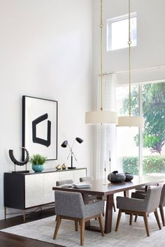 Get inspired by Mid-Century Modern Dining Room Design photo by Krista + Home. Wayfair lets you find the designer products in the photo and get ideas from thousands of other Mid-Century Modern Dining Room Design photos. Dining Room Lighting, Dining Room Sets, Dining Room Design, Dining Room Furniture, Dining Room Table, Fine Furniture, Room Chairs, Dining Chairs, Furniture Design