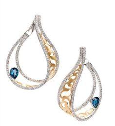 Armaggan earring-Gold, london blue #armaggan #design #special #jewelry #earring…