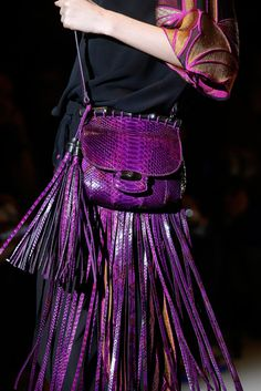 Gucci Spring 2014 purple fringe
