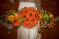 camo and hunter orange wedding flowers - Google Search