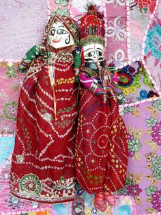 INDIAN TRADITIONAL PUPPETS PAIR DECORATIVE HANGING CHRISTMAS GIFT KATHPUTLI KP07…