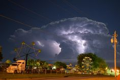 I captured this picture over looking the fairgrounds in LeMars Iowa on August 2nd at 3a.m.