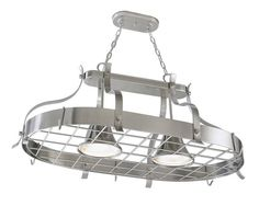 Lowe's - portfolio hanging pot rack with lights - perfect for the kitchen island