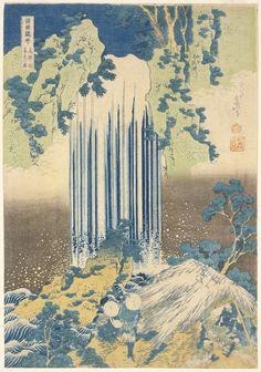 Katsushika Hokusai Japanese, 1760-1849 Nishimuraya Yohachi, publisher Japanese Yoro Falls, Mino Province (Mino no kuni yoro no taki), A journey to the waterfalls of the various provinces, ca. 1831-1832 Polychrome wood block print