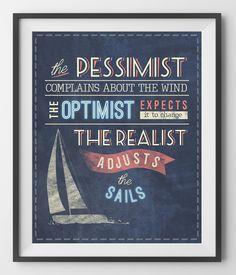 PESSIMIST, OPTIMIST AND REALIST