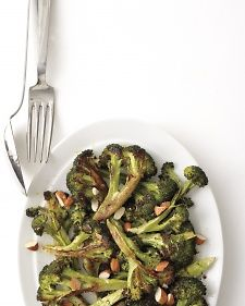 Roasted Broccoli with Lemon and Almonds - this is soooo good!!!  A new favorite side! :)