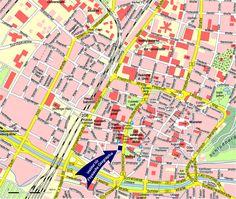 Mappa Friburgo - Cartina di Friburgo