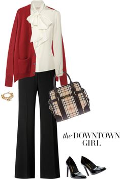 """Red, White & BURBERRY"" by fashionmonkey1 ❤ liked on Polyvore"
