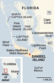 t where to go and when. (The answer is Lighthouse Beach and Blind Pass, which lies between Sanibel and Captiva at low tide, when the wind is westerly, preferably after a storm.)