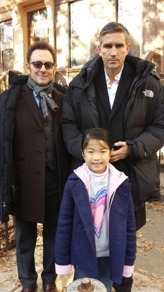 Michael Emerson and Jim Caviezel from person of interest meets their fan.