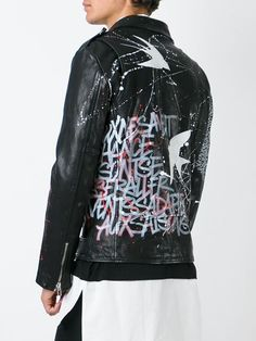 ~ Living a Beautiful Life ~ Faith Connexion grafitti biker jacket