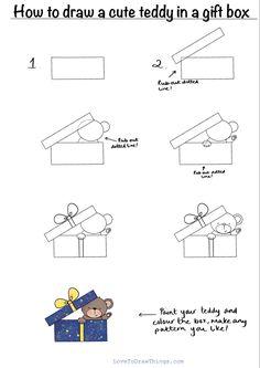 Easy Doodles Drawings, Cute Easy Drawings, Art Drawings For Kids, Simple Doodles, Art Drawings Sketches, Drawing For Kids, Easy Christmas Drawings, Christmas Doodles, Drawing Lessons