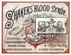 Shaker Blood Syrup Label