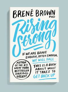Book cover design for Rising Strong by Brené Brown
