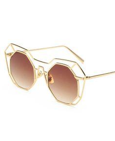 Big Mirror Sunglasses UV400 Pilot Hollow Out Sun Glasses   Seamido  Swimwear, Swimsuits, Bikinis 013f33321d
