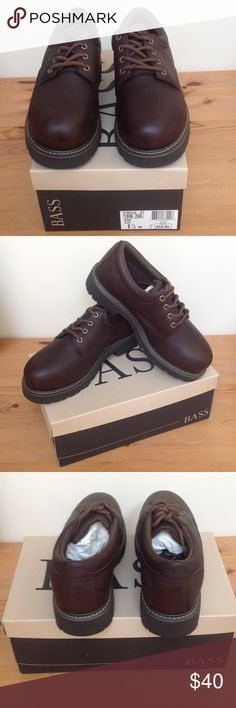 Men's Bass Brown Leather Casual Shoe Size 8.5 New in Box Never Used Great deal! CAN NOT BE BUNDLED! Bass Shoes