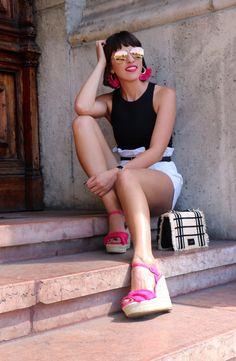 Nagy Zsófia ma elegánsabb szettet választott Glamour, Outfit, Pink, Clothes, Rose, Roses, Outfits, Clothing