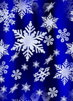 Snow Flakes Night Blue Repeating Seamless Background Fill