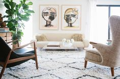 Texture, texture, texture. And a pop of personality with curated artwork.