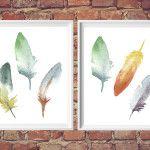 feather art printables {freebie friday}