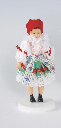 Panenky - 12 cm | Olšavanka 12cm - nemrkací | Krojované panenky