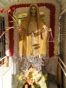 """Morbid Anatomy: Santa Muerte: My Search for the Bony Lady: Guest Post and Photos by Tonya Hurley, Author of """"ghostgirl"""" and """"The Blessed"""""""