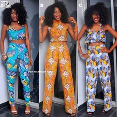 Two peice African print outfits African Dresses For Women, African Attire, African Fashion Dresses, African Wear, African Women, African Style, African Shop, African Inspired Fashion, African Print Fashion