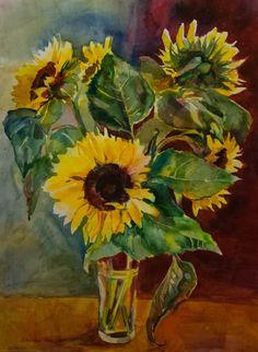 Sunflowers 2014 52x72cm
